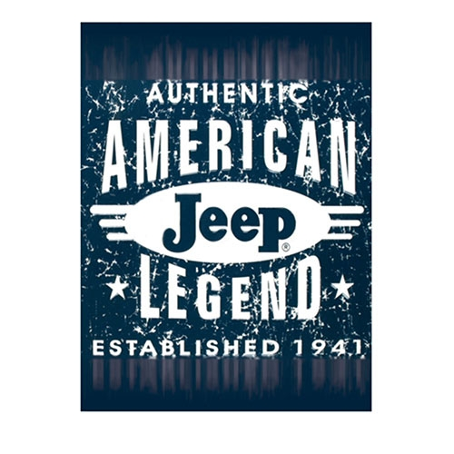 Placa Decorativa American Jeep Legend Média em Metal - 30x20cm