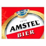 Placa Decorativa Amstel Bier com Impressão Digital em Metal - 30x20 cm
