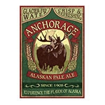 Placa Decorativa Anchorage Alaskan Pale Ale Grande em Metal - 40x30cm