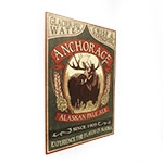 Placa Decorativa Anchorage Alaskan Pale Ale Média em Metal - 30x20cm