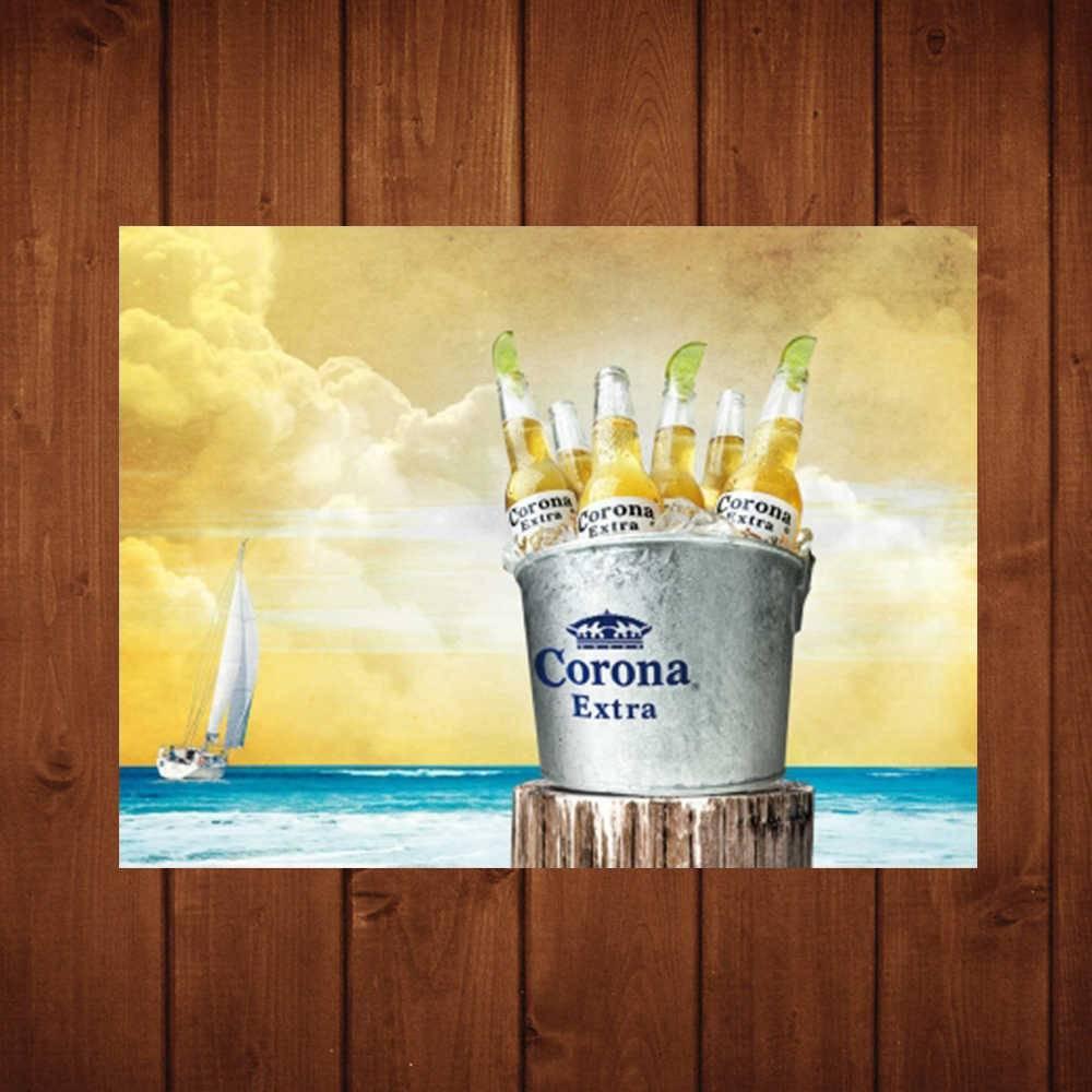 Placa Decorativa Balde Corona com Impressão Digital em Metal - 40x30 cm