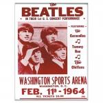 Placa Decorativa Beatles Concert Vermelha Média em Metal