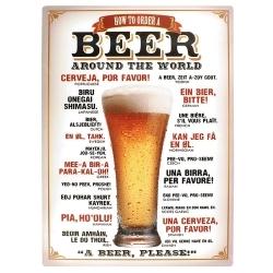 Placa Decorativa Beer Around The World Grande