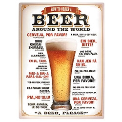 Placa Decorativa Beer Around The World Média