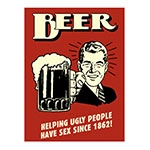 Placa Decorativa Beer Helping Grande em Metal - 40x30cm
