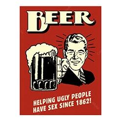 Placa Decorativa Beer Helping Média
