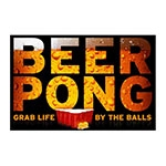 Placa Decorativa Beer Pong Grande em Metal - 40x30cm