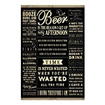 Placa Decorativa Beer Time Grande em Metal - 40x30cm