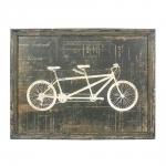 Placa Decorativa Bicicleta Dois Lugares em Madeira