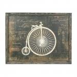 Placa Decorativa Bicicleta I em Madeira - 58x45 cm