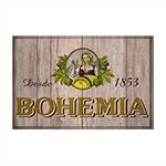 Placa Decorativa Bohemia Madeira Grande em Metal - 40x30 cm