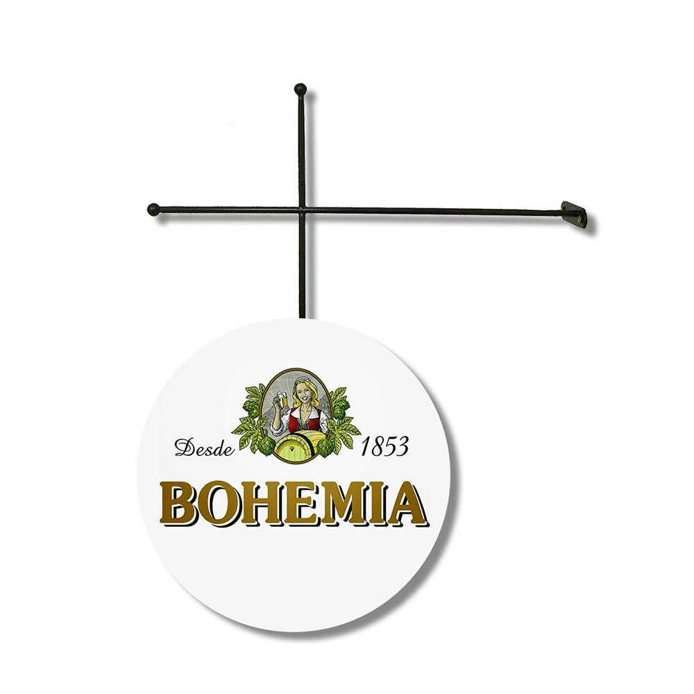 Placa Decorativa Bohemia com Suporte em Metal - 30x30 cm