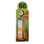 Placa Decorativa Bomba de Gasolina Amarela em Metal - 89x30 cm