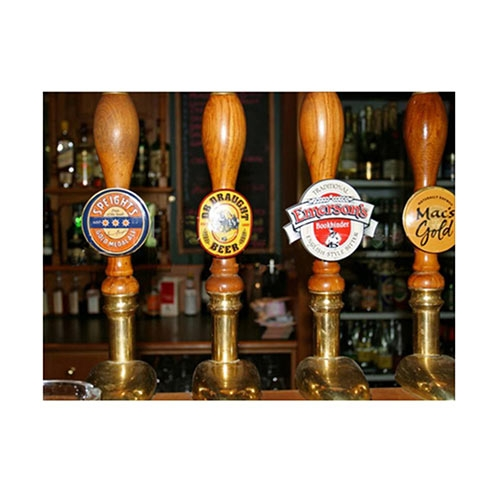 Placa Decorativa Bombas Cerveja Grande em Metal - 40x30cm