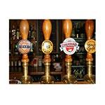 Placa Decorativa Bombas de Cerveja Média em Metal - 30x20cm
