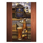 Placa Decorativa Boston Shipyard Grande em Metal - 40x30cm