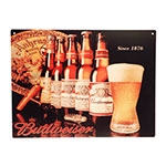 Placa Decorativa Budweiser 1876 Grande