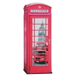 Placa Decorativa Cabine Londres em Metal - 70x27 cm