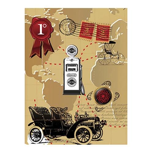 Placa Decorativa Calhambeque Grande em Metal - 40x30cm