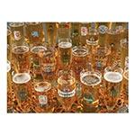 Placa Decorativa Canecos de Cerveja Média em Metal - 30x20cm