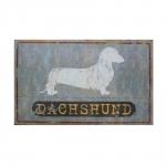 Placa Decorativa Cão Dachshund em Metal - 47x31 cm