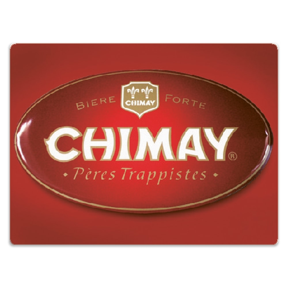 Placa Decorativa Cerveja Chimay Vermelho Média em Metal - 30x20 cm