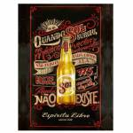 Placa Decorativa Cerveja Sol com Impressão Digital em Metal - 30x20 cm