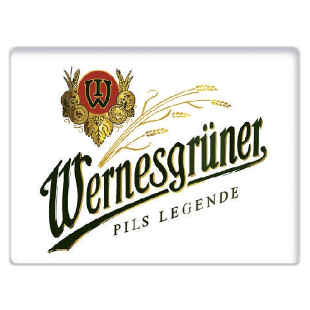 Placa Decorativa Cerveja Wenesgruner Média em Metal - 30x20 cm