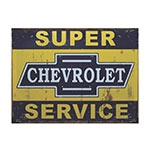 Placa Decorativa Chevrolet Super Service Grande