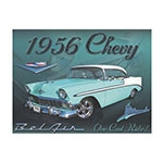Placa Decorativa Chevy 1956 Grande em Metal - 40x30cm