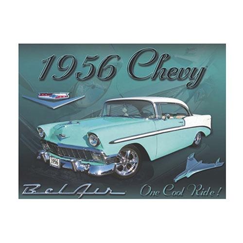 Placa Decorativa Chevy 1958 Média em Metal - 30x20cm