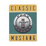 Placa Decorativa Classic Mustang Grande em Metal - 40x30cm