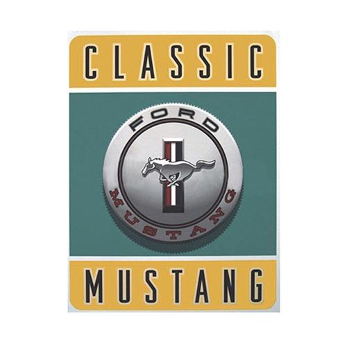 Placa Decorativa Classic Mustang Média em Metal - 30x20cm
