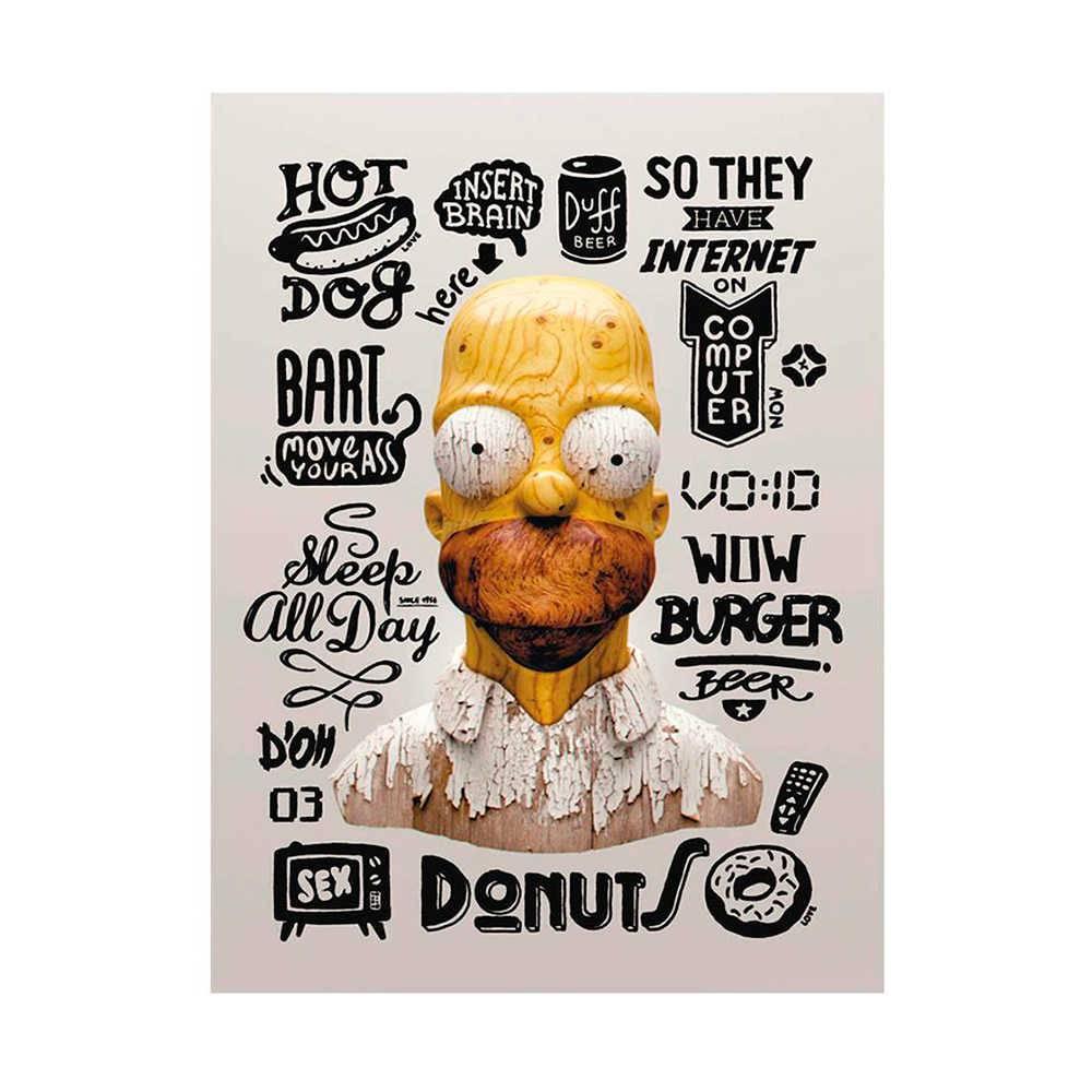 Placa Decorativa Coisas Homer com Impressão Digital em Metal - 30x20 cm