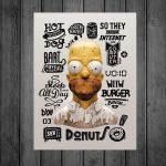 Placa Decorativa Coisas Homer em Metal - 40x30 cm