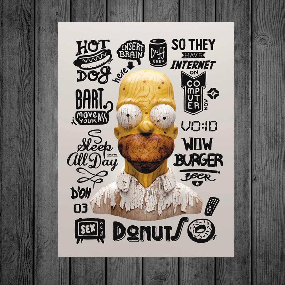 Placa Decorativa Coisas Homer com Impressão Digital em Metal - 40x30 cm