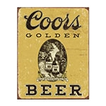 Placa Decorativa Coors Beer Grande em Metal - 40x30cm