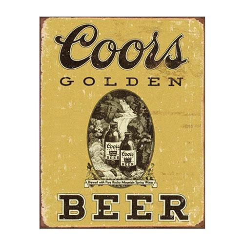 Placa Decorativa Coors Beer Média em Metal - 30x20cm