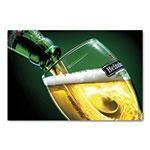 Placa Decorativa Copo de Cerveja Heineken Grande em Metal - 40x30cm