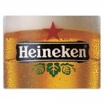 Placa Decorativa Copo de Heineken Gelada Grande em Metal - 40x30 cm