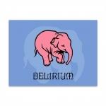 Placa Decorativa Delirium Grande em Metal - 40x30 cm
