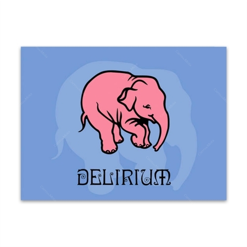 Placa Decorativa Delirium Média em Metal - 30x20 cm
