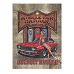 Placa Decorativa Detroit Muscle Média em Metal - 30x20cm