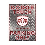 Placa Decorativa Dodge Truck Grande em Metal - 40x30cm