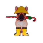 Placa Decorativa Dog Chuva em Madeira
