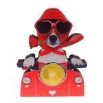 Placa Decorativa Dog Lambreta em Madeira