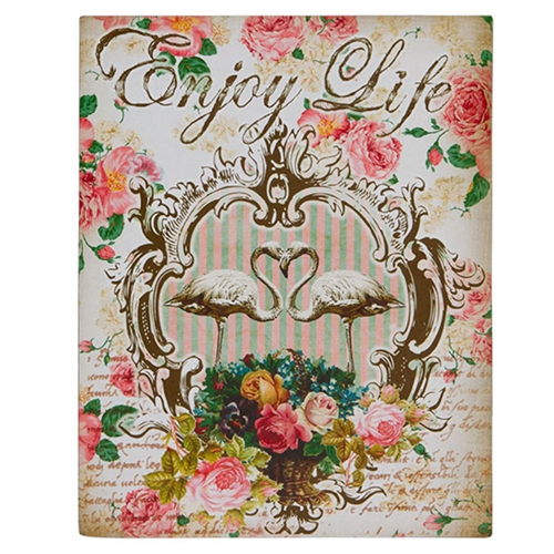 Placa Decorativa Enjoy Life em Metal - 28x22 cm