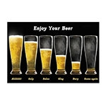 Placa Decorativa Enjoy Your Beer Grande em Metal - 40x30cm