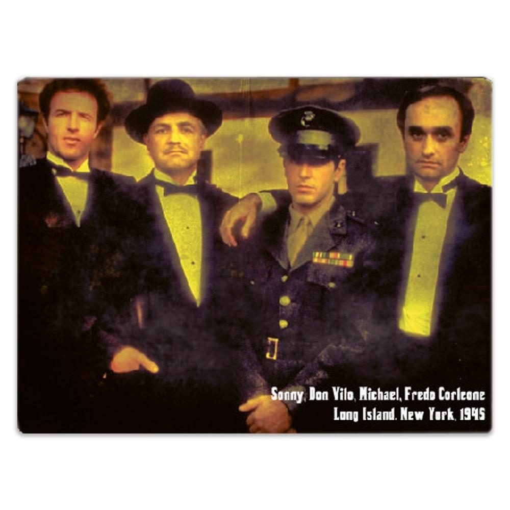 Placa Decorativa Família Corleone Média em Metal - 30x20 cm