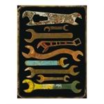 Placa Decorativa Ferramentas Grande em Metal -  40x30 cm